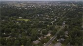 aerial view of housing in Victoria MN