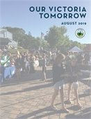 Our Victoria Tomorrow, August 2019, title page for city's comprehensive plan