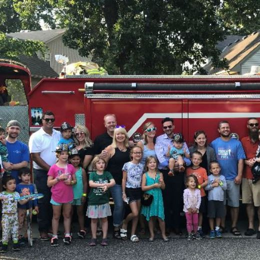 families with firetruck