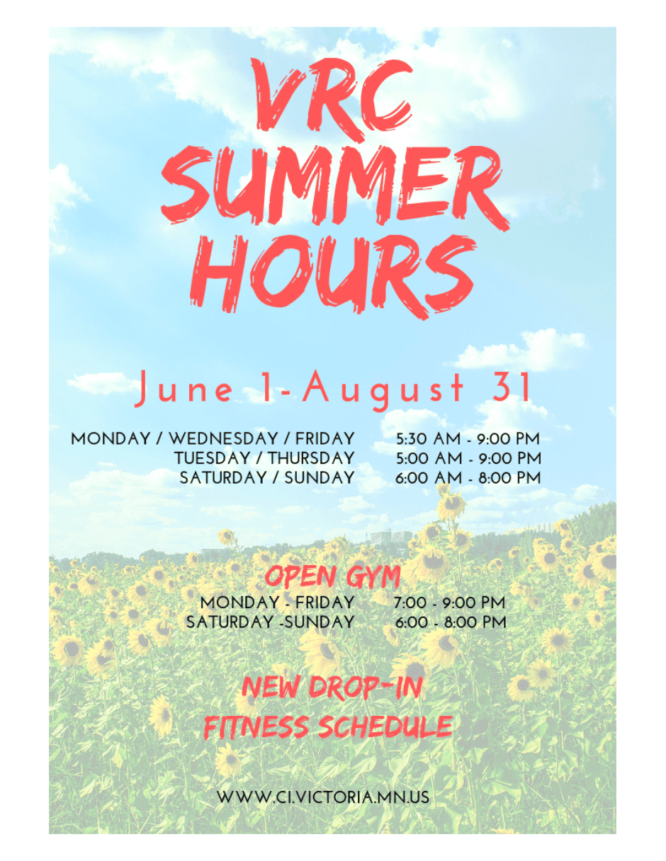 VRC Summer Hours