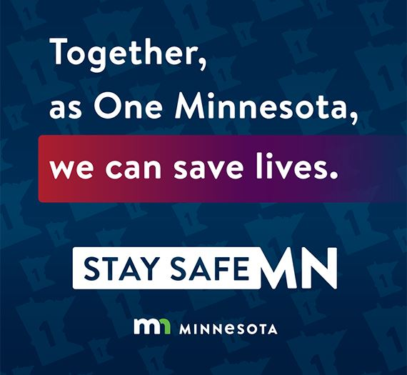 Stay Safe MN in text