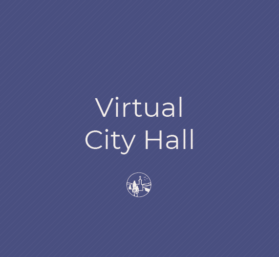 A logo for the City of Victoria with text that says Virtual City Hall