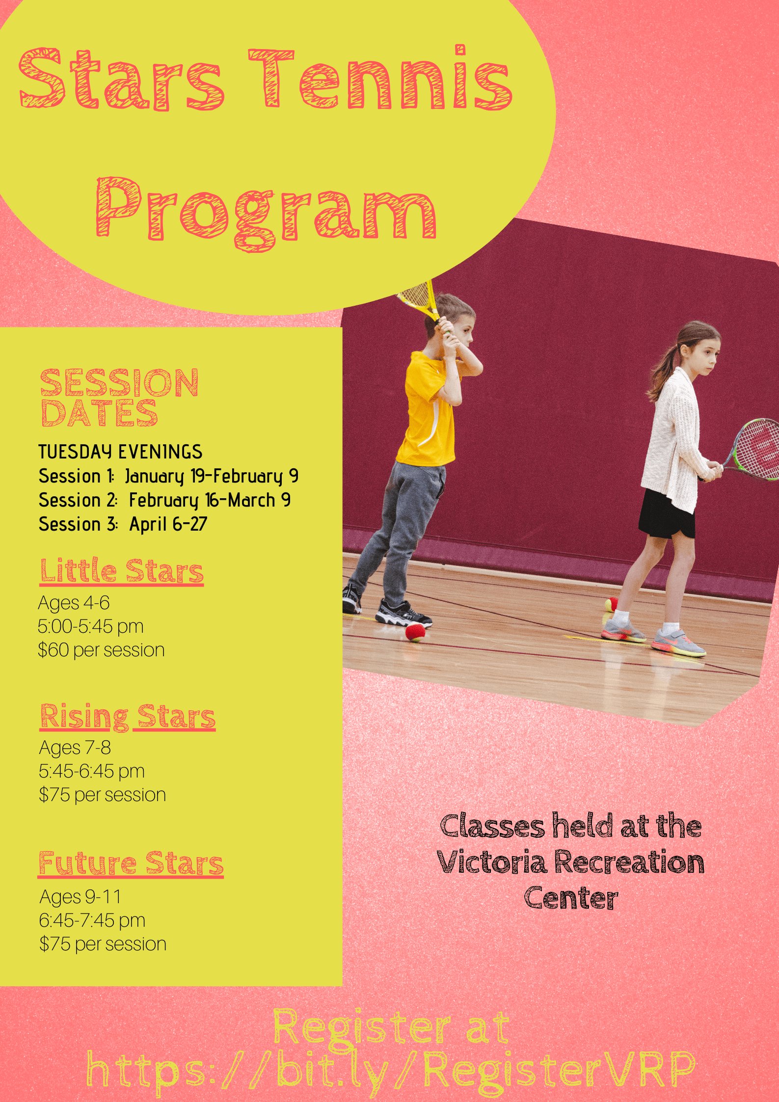 Stars Tennis Program Winter 2021