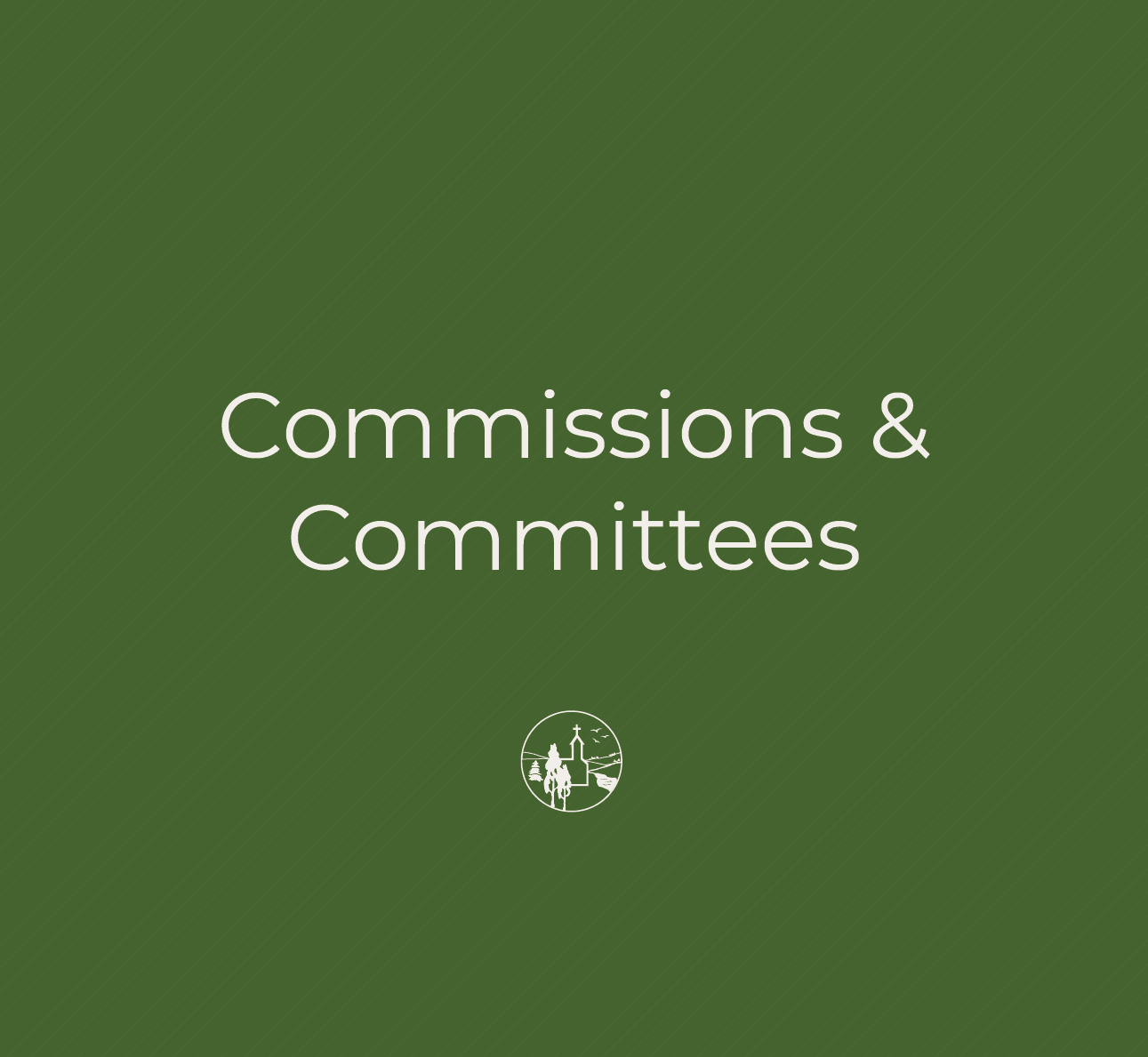 Commissions & Committees in text with City of Victoria logo.